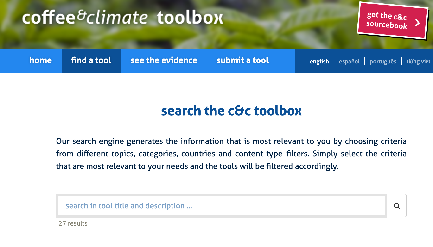 screenshot of the c&c toolbox